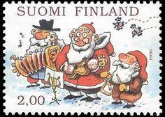 Joulupostimerkki 1996 1/3 - Joululaulu