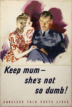 You said it! World War II posters and drawings from Britain