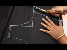 Kids blouse cutting and stitching Fancy Blouse Designs, Sari Blouse Designs, Blouse Neck Designs, Kurta Designs, How To Stitch Blouse, Skirt Patterns Sewing, Pattern Sewing, Blouse Patterns, Blouse Tutorial
