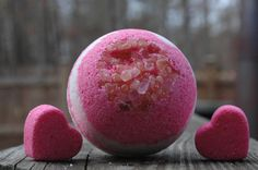 Giant Himalayan Salt Pink and White Bath Bomb by MeltAwayBathBombs Himalayan Salt Bath, Luxury Bath, Bath Salts, Bath Bombs, Hair And Nails, Girl Stuff, Fun Stuff, Health And Beauty, Essential Oils