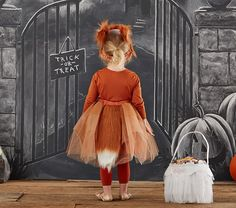 Pottery Barn Kids offers kids & baby furniture, bedding and toys designed to delight and inspire. Fox Halloween, Halloween Buffet, Toddler Halloween, Halloween 2017, Halloween Costumes For Kids, Halloween Decorations, Halloween Party, Fox Costume, Tutu Costumes