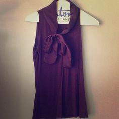 Tank top Elegant dark purple top with tie bow neckline. The Limited Tops Tank Tops