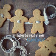 Biscotti di Natale: omini di pan di zenzero -  Gingerbread Men Garland
