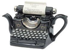 Bespoke Message Typewriter Teapot
