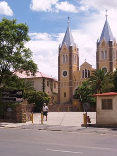 Mary's Cathedral in Windhoek, Namibia Paises Da Africa, West Africa, Namibia, Church Architecture, Cathedral Church, Chapelle, Place Of Worship, Beautiful Places To Visit, Paladin