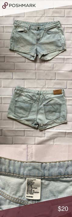 &Denim || Light Wash Jean Shorts Light was jean shorts in size 10 from &Denim  🌿Excellent used condition 🌿Perfect go to Jean Shorts for summer  Be sure to check my closet for more great items! &Denim Shorts Jean Shorts