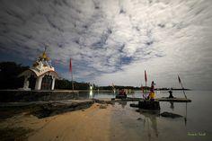 Anse la Raie, clair de lune, Mauritius