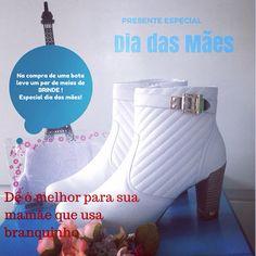 Lindas botas brancas para as profissionais da área da saúde e para quem curte a Moda Branca !!!