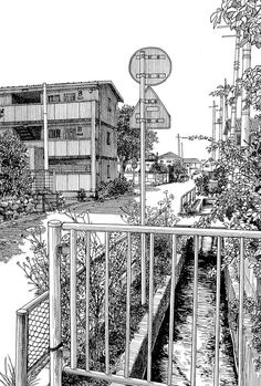 Architectural – Urban Sketches and Cityscape Drawings - Art Sketches Illustration Sketches, Art Sketches, Cityscape Drawing, Architecture Sketches, Background Drawing, Urban Sketching, Ink Drawings, Ink Art, Manga Art