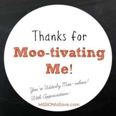 Thanks for Mootivating Me FREE printable tags for DIY gift giving. These pair with Udderly Smooth cream for a cute teacher or coach gift.