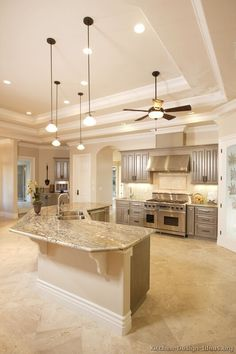 You are very lucky to have a larger kitchen so you should follow to create an amazing large kitchen. #KitchenRemodel #KitchenDesign #Kitchen