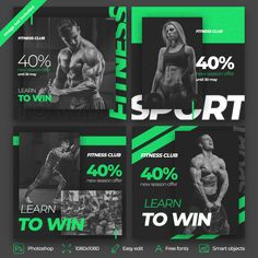 Free Fitness social media post template design Having a healthy and fit body is desirable Social Media Planner, Social Media Poster, Social Media Content, Social Media Graphics, Social Media Marketing, Ideas Fotos Instagram, Layout Do Instagram, Instagram Design, Logos Retro