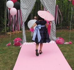 love this party as inspiration for a fashion week party!