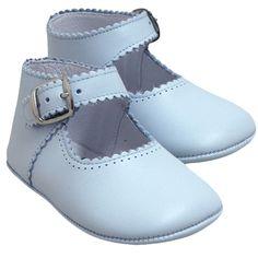 Baby Blue Leather Maryjanes