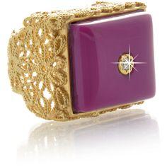 ISHARYA Magenta Daisy Filigree Ring ($110) ❤ liked on Polyvore Filigree Jewelry, Filigree Ring, Jewelry Rings, Jewelery, Isharya, Filigree Design, Stone Rings, Magenta, 18k Gold
