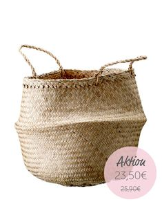 Natural Seagrass Small Belly Basket from Dear Keaton Storage Containers, Storage Baskets, Extra Storage, Wire Storage, Belly Basket, Plant Basket, Home Accessories, Decorative Accessories, Straw Bag