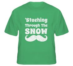 Youth Vintage Staching Through The Snow T-Shirt