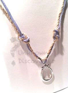Nautical Suede and Jute Knot Necklace  by UnknownDiscoveries