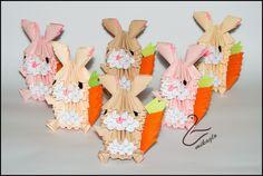 Mikaglo - Origami Modułowe - Origami 3d: Królik Wielkanocny - origami 3d tutorial