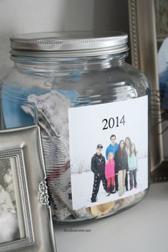 Create a New Year's Eve Time Capsule as part of your New Year's Party. A great way to document the year. Store moments and photos in the jars.