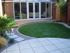 Circular garden and paving design in cambridge gardening for Garden design bournemouth