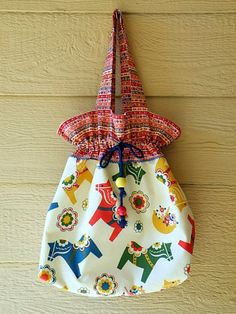 Dala horse market bag