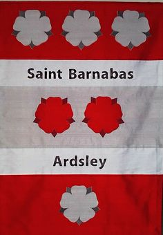 Processional Banner for St. Barnabas' Church, Ardsley, NY.  Silk dupioni.