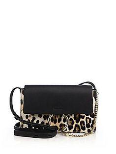 1730 euros Chloé; Faye Small Leopard-Print Calf Hair & Leather Shoulder Bag