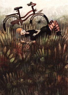 neverstopdrawing: Pettrybyos | books, paper, scissors--this reminds me of Flavia DeLuce and her bicycle Gladys