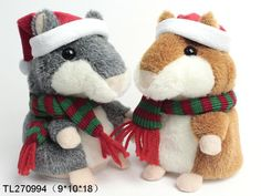 Christmas edition electric Hamster plush recording  www.ideagroupigm.com