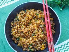 Flavours of Amellia: Smažená rýže se seitanem Nasi Goreng, Seitan, Fried Rice, Tofu, Fries, Ethnic Recipes, Stir Fry Rice