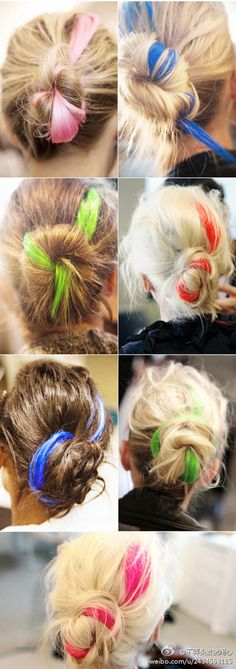 Neon Hair Streaks :>