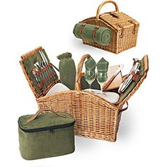 @Overstock.com - Picnic Time Somerset Deluxe Picnic Basket - No picnic in the countryside is complete without an English-style picnic basketOutdoor serving is more fun with a double-lid willow basketMake your picnic memorable by combining the kitchen and dining room in a Somerset basket  http://www.overstock.com/Home-Garden/Picnic-Time-Somerset-Deluxe-Picnic-Basket/4229893/product.html?CID=214117 Add to cart to see special price