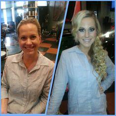 #Salon2Dye4 #ChandraStyles #Bridal #Hair #Makeup #Wedding #Blonde #Extensions #Curls #BeforeAndAfter