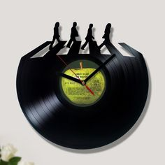 Vinyl Record Clock - Inside Abbey Road