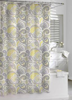 Marvelous Amazon.com   Kassatex Paisley Shower Curtain, Yellow/Grey, 72 By 72