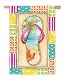 View Item: Evergreen Flag & Garden Flip Flop Shore Garden Flag