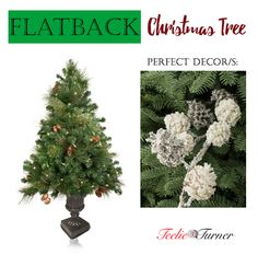 Flatback Christmas Tree www.theteeliebog.com Flatback is another space saving type of Christmas tree. They're best to be placed on walls with hanging frames or wreaths. #TeelieBlog