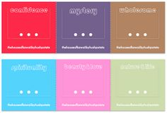 Hush Potato House: Freebies: Color Meaning Bookmark