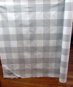 BUFFALO CHECK in zink (silvery gray) designer,drapery/bedding/upholstery fabric