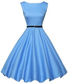 GRACE KARIN® Sleeveless Vintage Tea Dress with Belt VL6086 ($25.98)