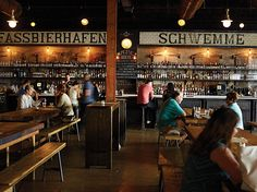 Asbury Festhalle & Biergarten A hip evocation of an Old World beer hall brings the Shore a two-fisted festival of wursts, schnitzels, strudel and 90 beers.