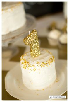 Twinkle Twinkle Little Star Birthday Party- Smash Cake
