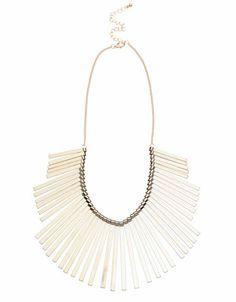 Bershka México - Collar flecos de metal