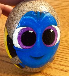 Baby Dory, Finding Dory Nemo Disney painted rocks by Holly N.