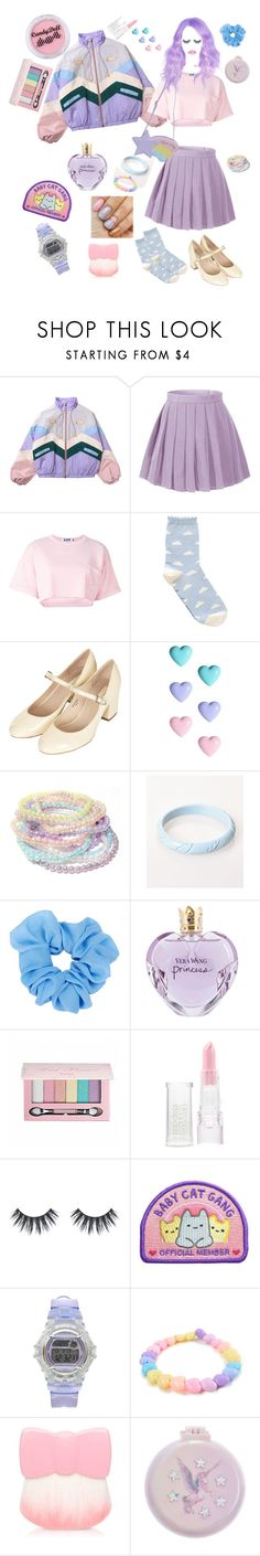 """""""berry sorbet"""" by discochampion ❤ liked on Polyvore featuring Steve J & Yoni P, Topshop, River Island, Vera Wang, Pop Beauty, Models Own, Casio, Etude House and Monsoon"""