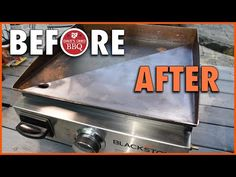 How to Restore a Rusty Blackstone Griddle - What's the Best way to Remove Rust & Resurface? How To Stop Rust, How To Clean Rust, How To Remove Rust, Outdoor Griddle Recipes, Outdoor Cooking Recipes, Cooking Tips, Flat Top Griddle, Griddle Grill, Black Stone