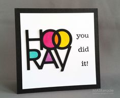 LOVE this bright, colorful card. Perfect for a celebration. Handmade by Ardyth Percy-Robb of MASKerade