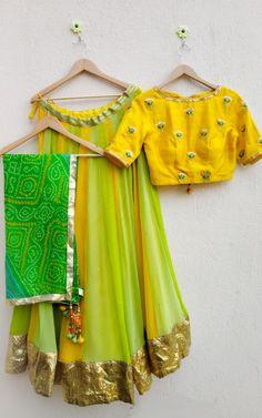 Half Saree Designs, Choli Designs, Fancy Blouse Designs, Rajasthani Lehenga, Indian Bridal Lehenga, Bandhani Dress, Lehnga Dress, Dress Indian Style, Indian Dresses