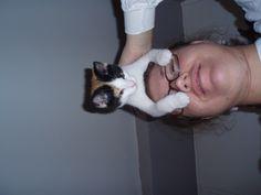Janice likes to ride on my head